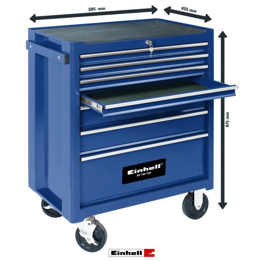 Servante d atelier 7 tiroirs bt tw 150 einhell bricozor for Servante de cuisine