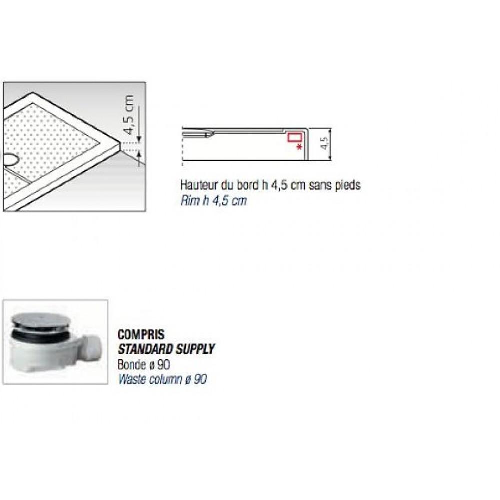 Receveur de douche poser extra plat 160x70 cm olympic - Comment poser receveur de douche extra plat ...