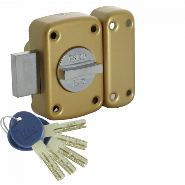 Verrou en applique - haute sûreté - à bouton - ISR 50 ISEO