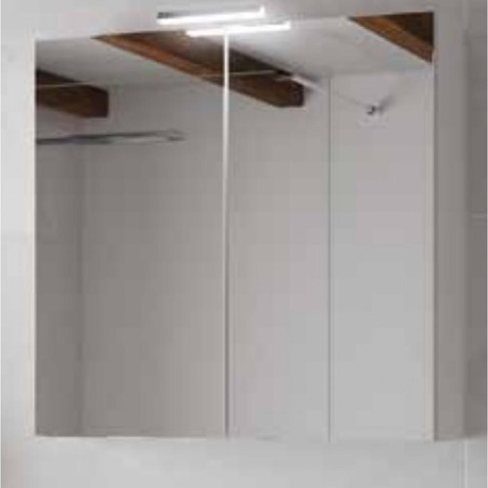 Hauteur Armoire De Toilette armoire de toilette - blanc brillant & miroir - angelo 800 ou 600mm néova  sur bricozor