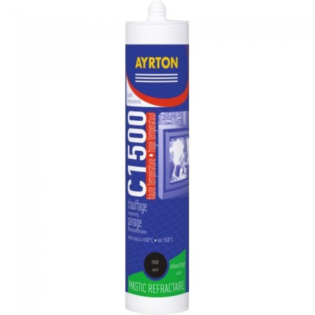 Mastic colle réfractaire 1500°C - pour joints - cartouche 310 ml AYRTON