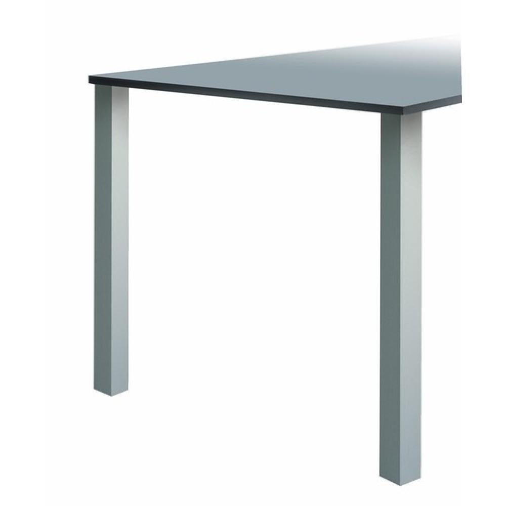 Pied De Table Carre.Pied De Table Aluminium Anodise Carre Lot De 4 Quadra 647 Camar Sur Bricozor