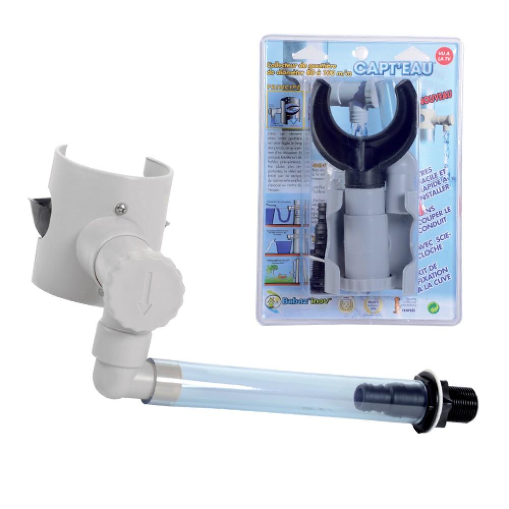 kit collecteur rond gris capt 39 eau 10946 eda plastiques bricozor. Black Bedroom Furniture Sets. Home Design Ideas