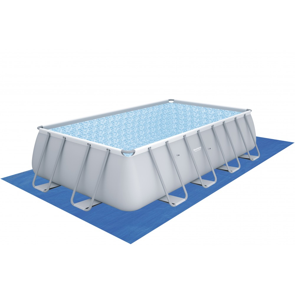 Piscine tubulaire rectangulaire 488x244cmx122cm power for Piscine tubulaire rectangulaire