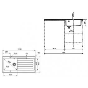 Évier chantier à poser Jasna- 1000x600 ou 1200x600mm -cuve extra-large FRANKE