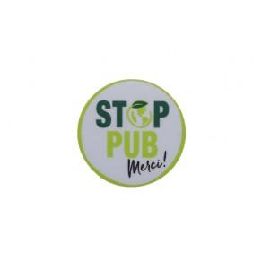 Sticker pour boîtes aux lettres - Stop pub - adhésif - 50 mm RENZ