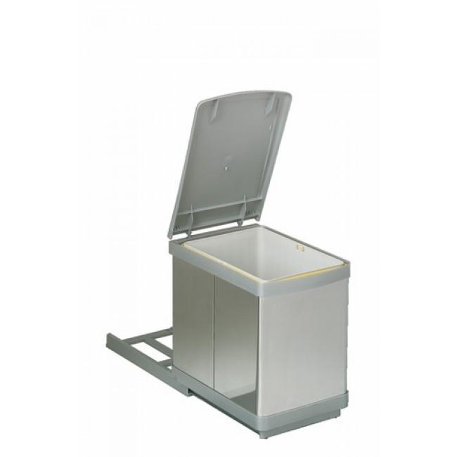 poubelle de cuisine coulissante sous vier 1 bac 16 l wesco france bricozor. Black Bedroom Furniture Sets. Home Design Ideas