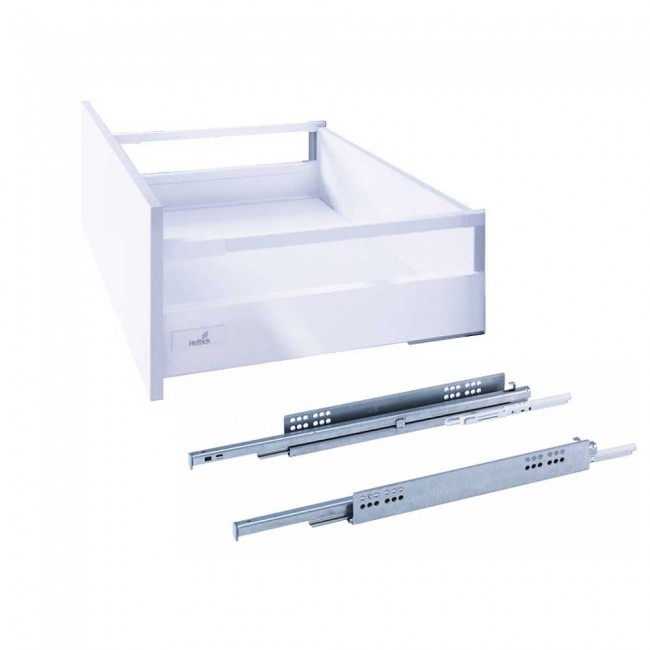 Tiroir Innotech Atira – hauteur 144 mm – coulisses Silent System 30 kg HETTICH