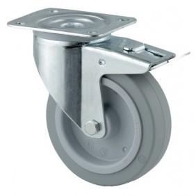 Roulettes pivotantes à blocage - fixation platine - Série 3477 UFR TENTE
