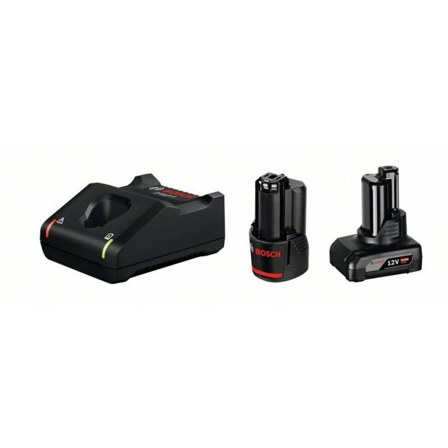 Batterie 12V 2Ah + 12V 4Ah + chargeur GAL 12V-40 - 1600A00B8L BOSCH