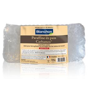 Pain de paraffine - agent de glissement sur machine - Carbamex BLANCHON