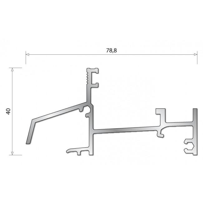 Seuil en aluminium AXL pour porte-fenêtre bois BILCOCQ