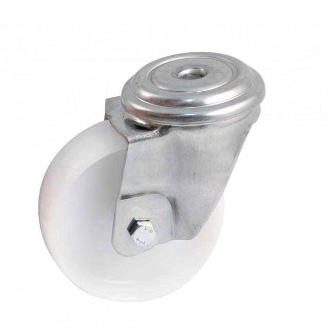 Roulette à oeil inox pivotant bandage polyamide - chape renforcée AVL
