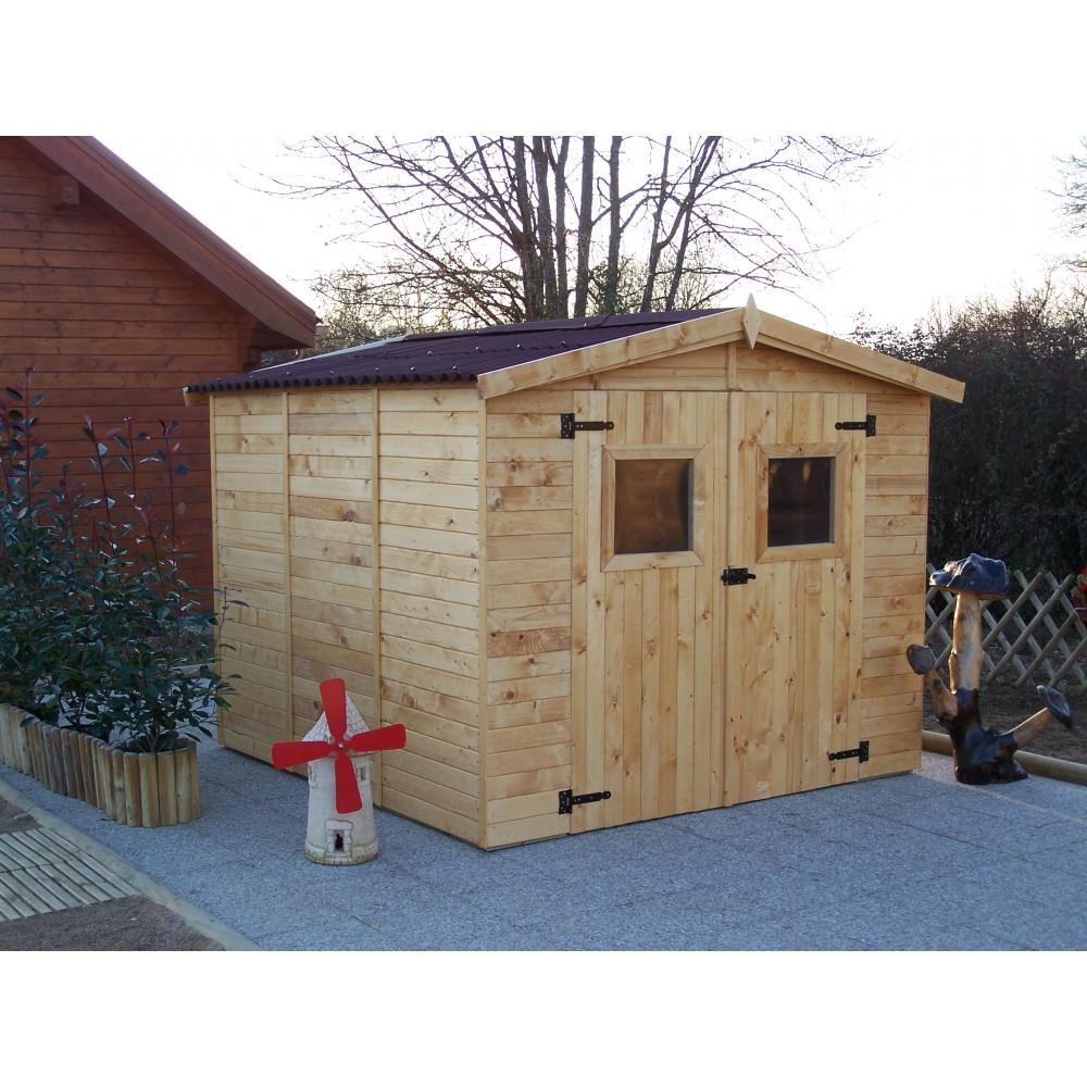 abri de jardin bois 16 mm eden 5 60 m2 habrita bricozor. Black Bedroom Furniture Sets. Home Design Ideas