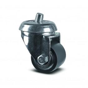 Roulette pivotante - tige filetée - roue ø35 mm - Agila TENTE