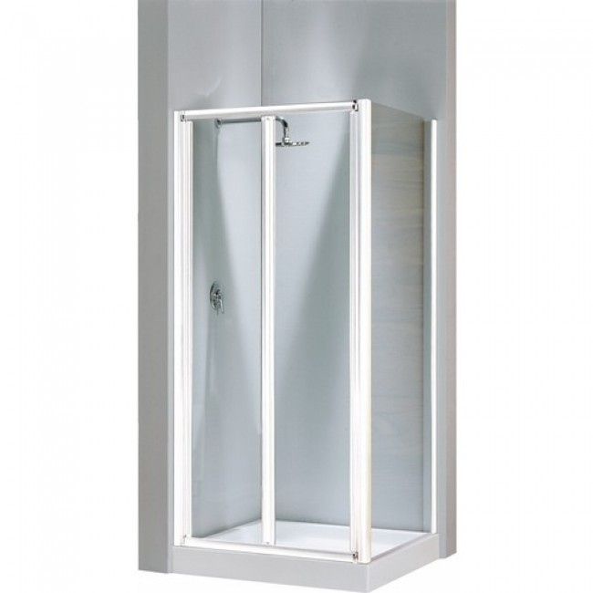 Porte de douche pliante verre transparent Lunes S - 84 à 90 cm