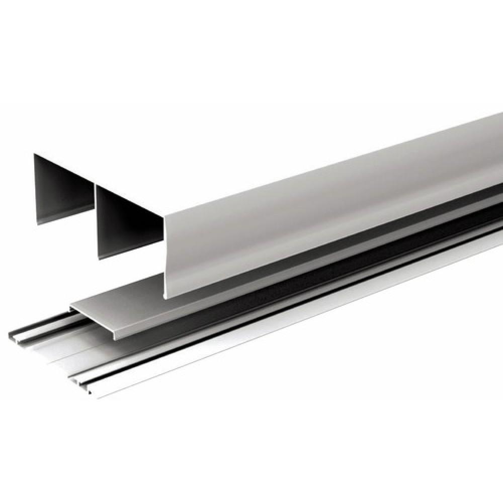 kit profil pour porte de placard coulissante Rails haut+bas pour placard coulissant Pico Star 2
