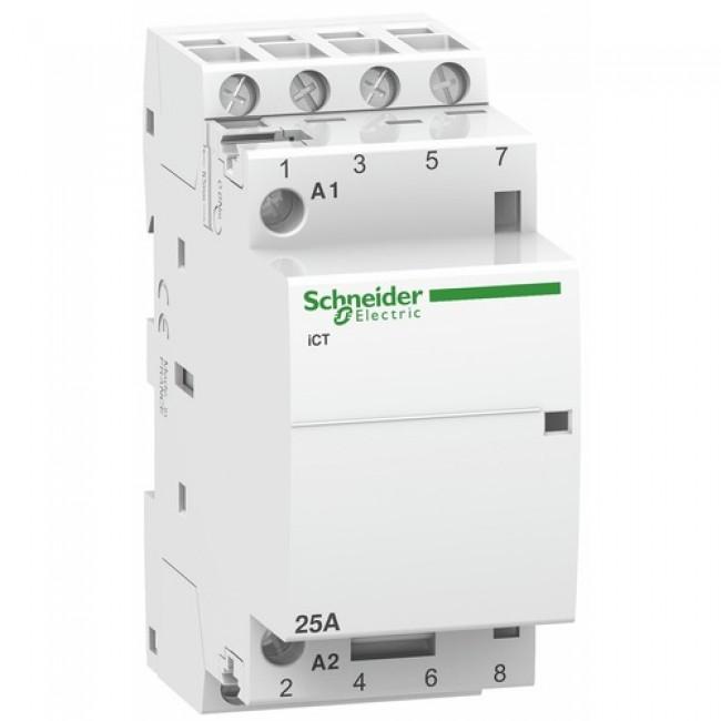 Contacteur modulaire tétrapolaire - sans commande manuelle - Acti9 iCT SCHNEIDER