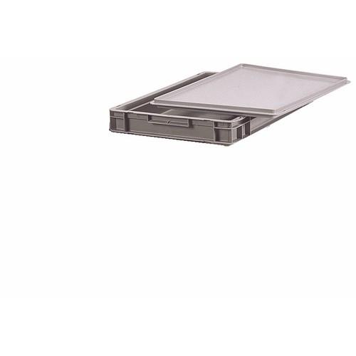 Bac gerbable gris en polyéthylène - dimensions 600 x 400 mm