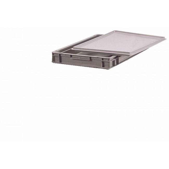 Bac gerbable gris en polyéthylène - dimensions 600 x 400 mm SCHAEFER