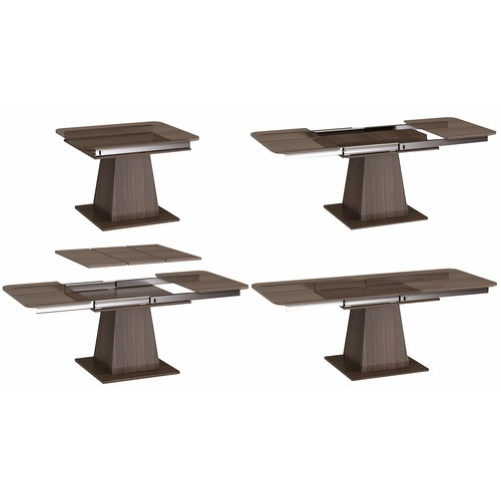 Coulisse de table t l scopique pour 3 rallonges charge 115kg bricozor - Pied de table telescopique ...