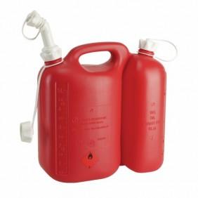 Jerrycan plastique - pour hydrocarbure - à double compartiment PRESSOL