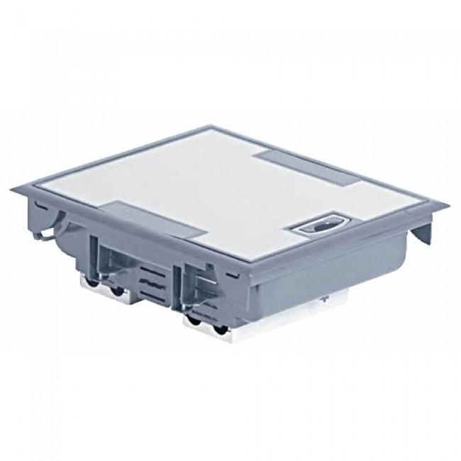 Boîte de sol à équiper à couvercle inox, hauteur 75 à 105mm LEGRAND