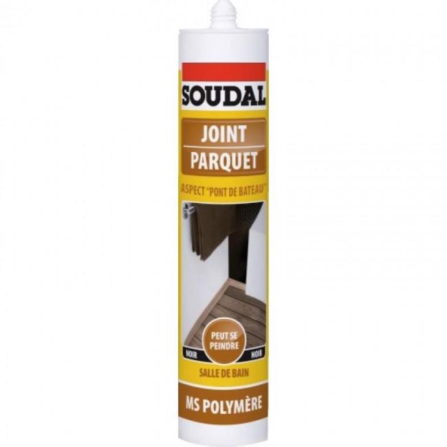 Mastic-colle MS polymère - pour parquet et pont de bateau - noir - MS SOUDAL
