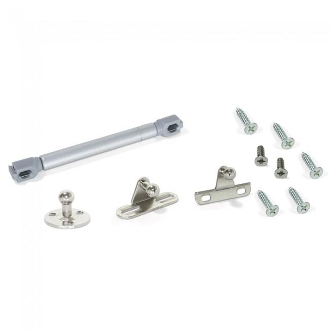 Piston amortisseur pour portes à battant - gris métallisé EMUCA