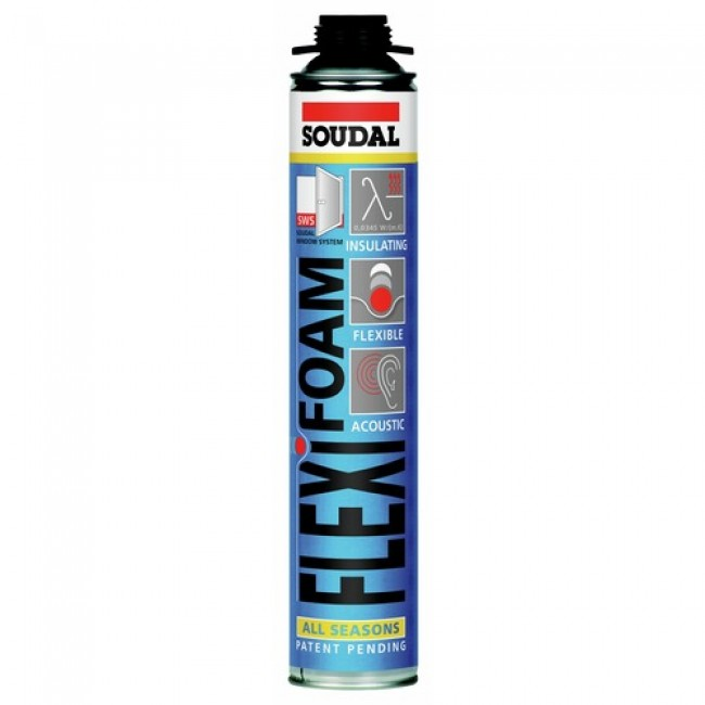 Mousse polyuréthane Flexifoam - bombe pistolable SOUDAL
