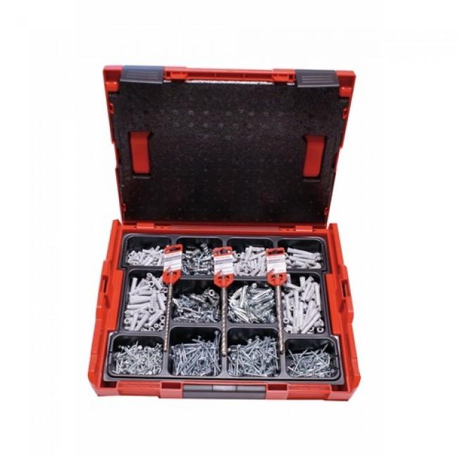 Mallette de chevilles nylon fixation tous matériaux L-Boxx FISCHER