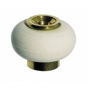 Butée de porte - fixation au sol - diamètre 30 mm - bourrelet blanc CIVIC