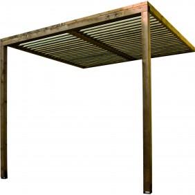 Carport en bois -  longueur 257 cm - Lumilam