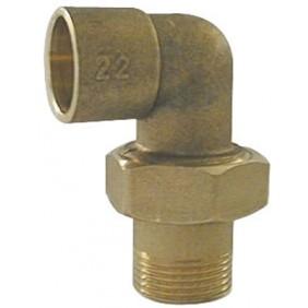 Coude union - laiton- 3 pièces mâle à joint sphéro-conique ANQUIER
