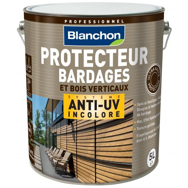 Protecteur bardage anti-UV - incolore - bois verticaux BLANCHON