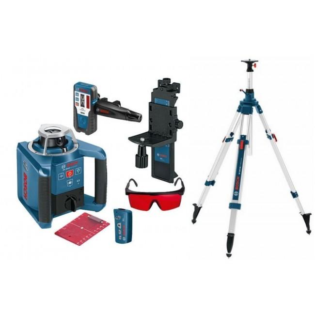 Laser rotatif automatique GRL 300 HV+cellule de réception+trépied+mire BOSCH