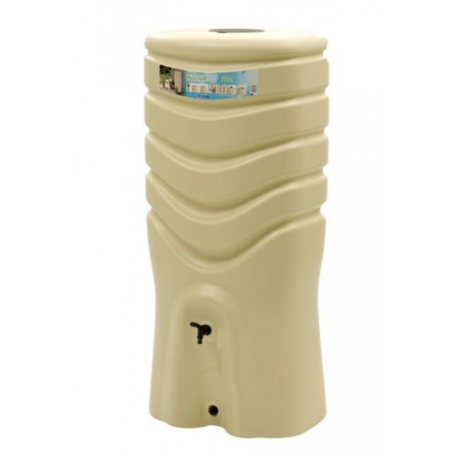 Récupérateur d'eau beige + kit collecteur - 350 litres  - Recup'O EDA PLASTIQUES