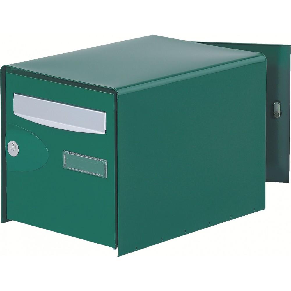 bo te aux lettres probox simple face vert decayeux bricozor. Black Bedroom Furniture Sets. Home Design Ideas