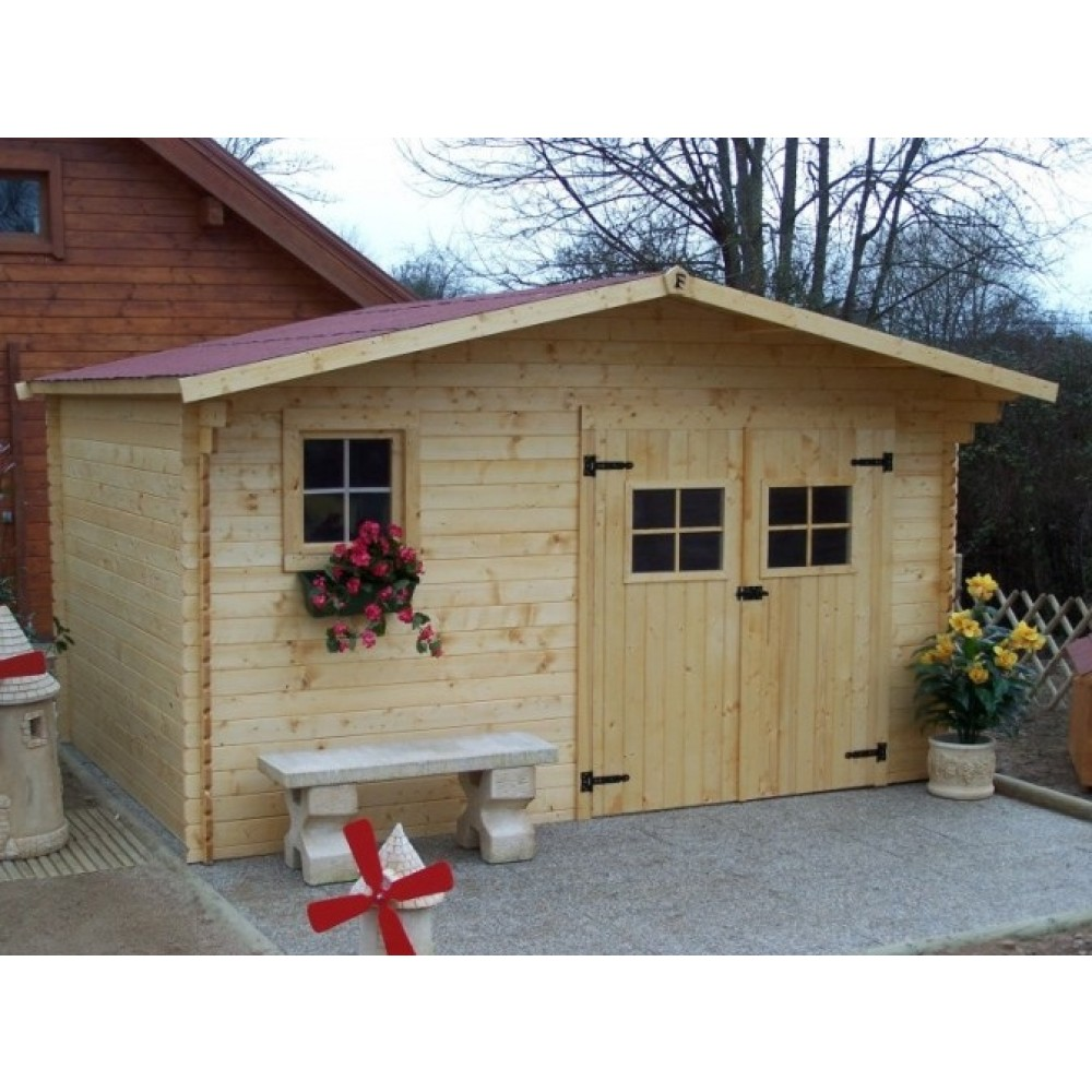 Abri de jardin 28 mm Balta 10,67 m² HABRITA | Bricozor