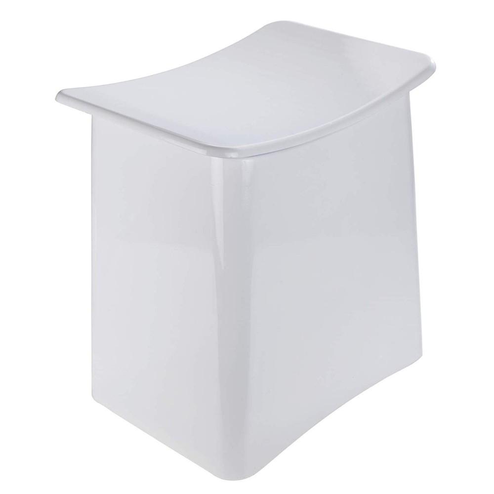 Tabouret/Panier à linge design pour salle de bain - ABS blanc WENKO sur  Bricozor