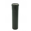 Conduit pellet émaillé noir - joint viton - longueur 1 m TEN