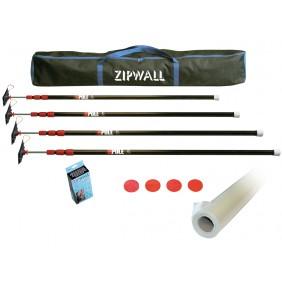 Barrière anti-poussière - Pack de 4 perches ZP4 + film polyane ZIPWALL