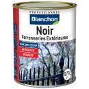 Peinture noire pour ferronneries extérieures - finition antirouille BLANCHON