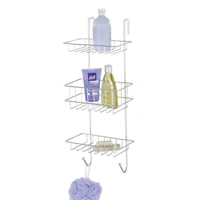 Étagère de douche à suspendre - Revigo - 3 paniers 2 crochets WENKO