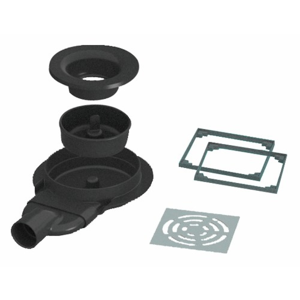 Siphon de sol extra plat pour receveur panodur rotaslim for Syphon douche extra plat