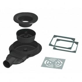 Siphon de sol extra-plat pour receveur Panodur - Rotaslim horizontal