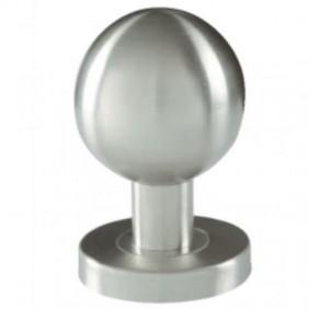Bouton boule fixe sur rosace en inox 304 - diamètre 55 mm BRICOZOR