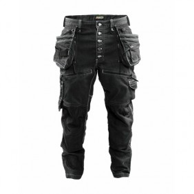 Pantalon de travail Cordura® Denim stretch noir - X1900 BLAKLADER