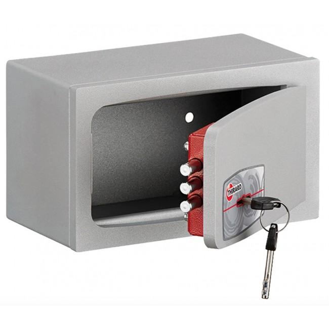 Coffre-fort encastrable ou à poser - à clé - 2,5 litres - Pierrefonds THIRARD
