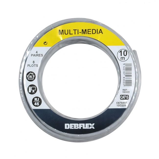 Câble informatique - réseaux VDI - 4P - 10 m - gris DEBFLEX